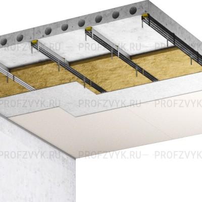 Эконом звукоизоляция потолка (8 см)