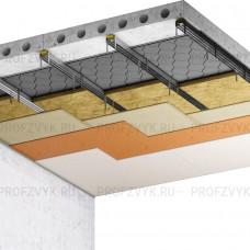 Усиленная звукоизоляция потолка (10 см)