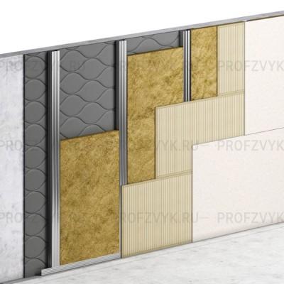 Базовая звукоизоляция стены (8 см)