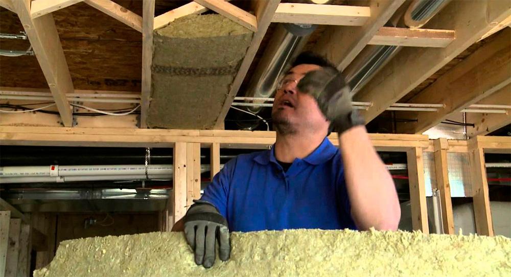 Звукоизоляция межэтажных перекрытий в деревянном доме
